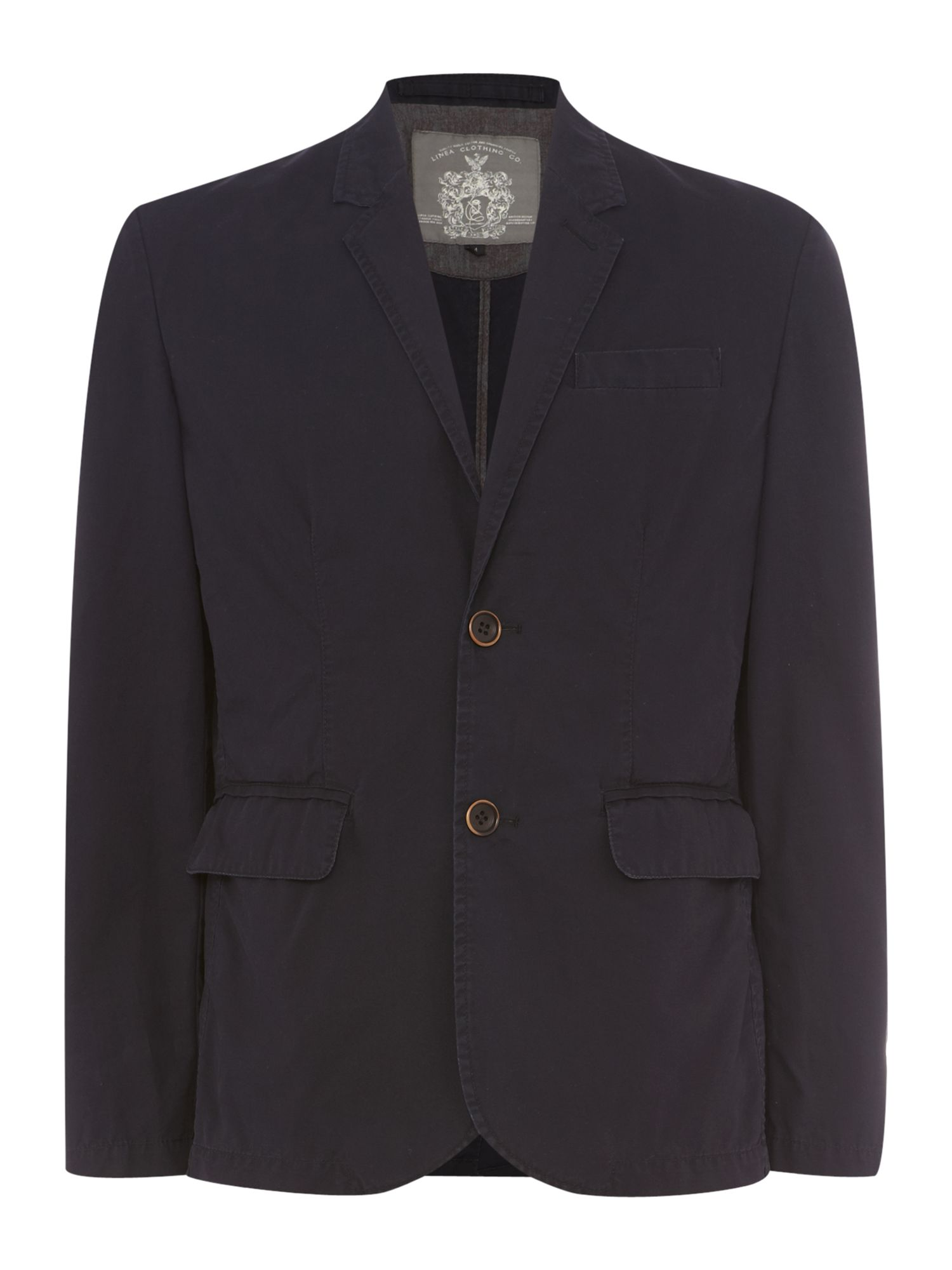 chaillot single breasted cotton unlined jacket