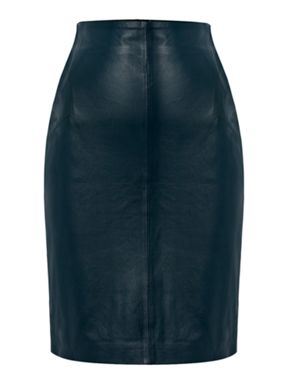 Pied a Terre Leather Skirt