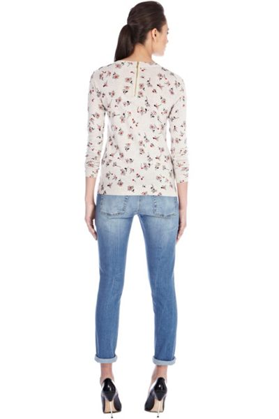 Warehouse Daisy print jumper