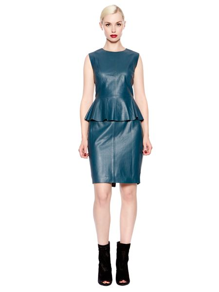 Pied a Terre Leather peplum top