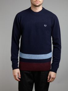 Boiled tipped crew neck jumper