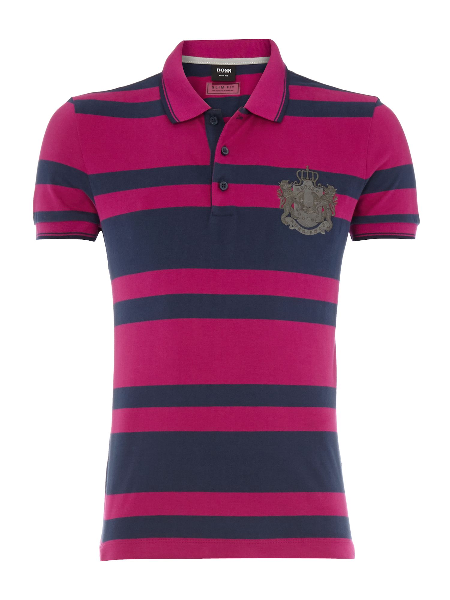 Stripe emblem polo