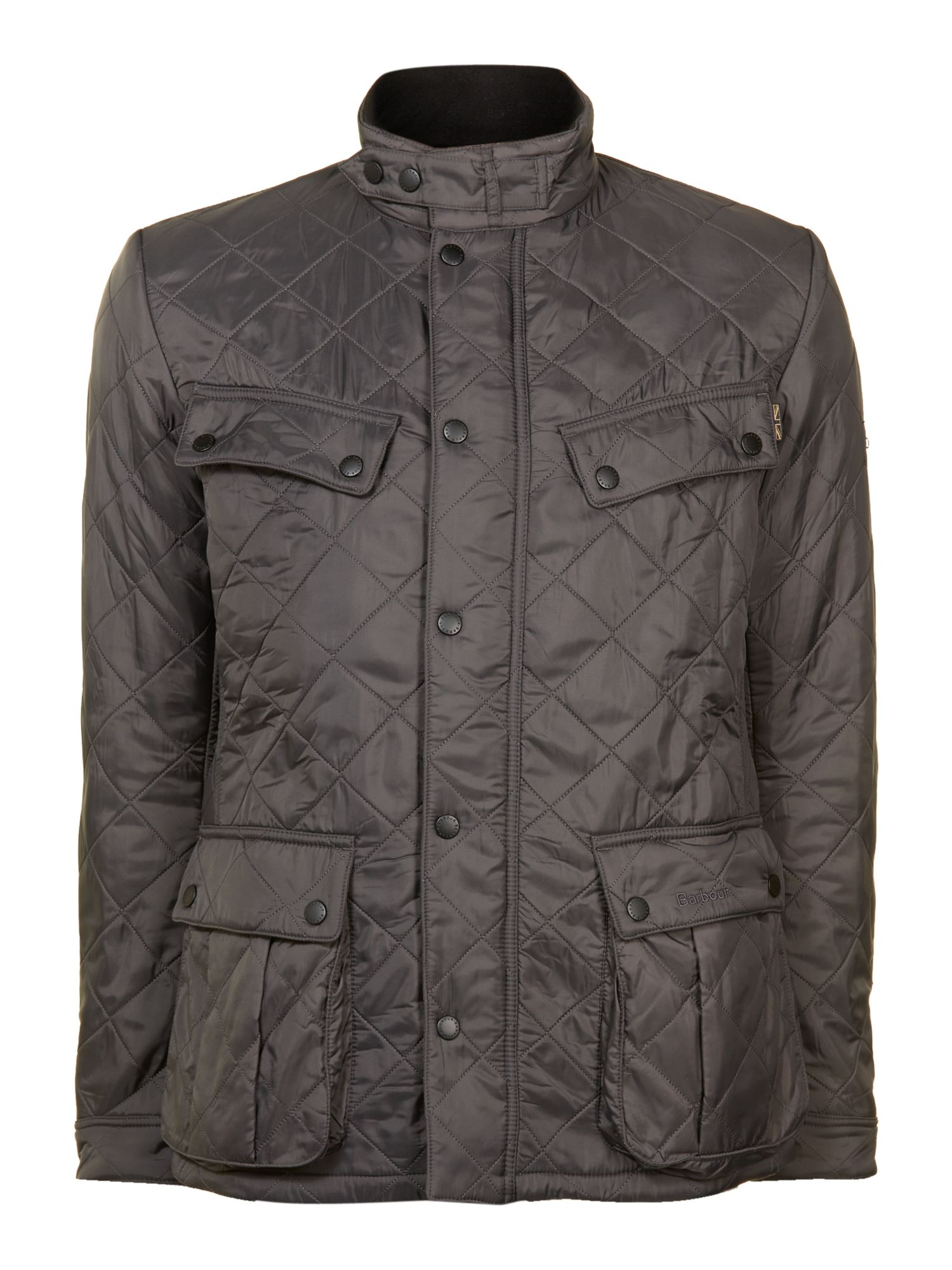 Mens Barbour Quilted international ariel polar jacket Charcoal
