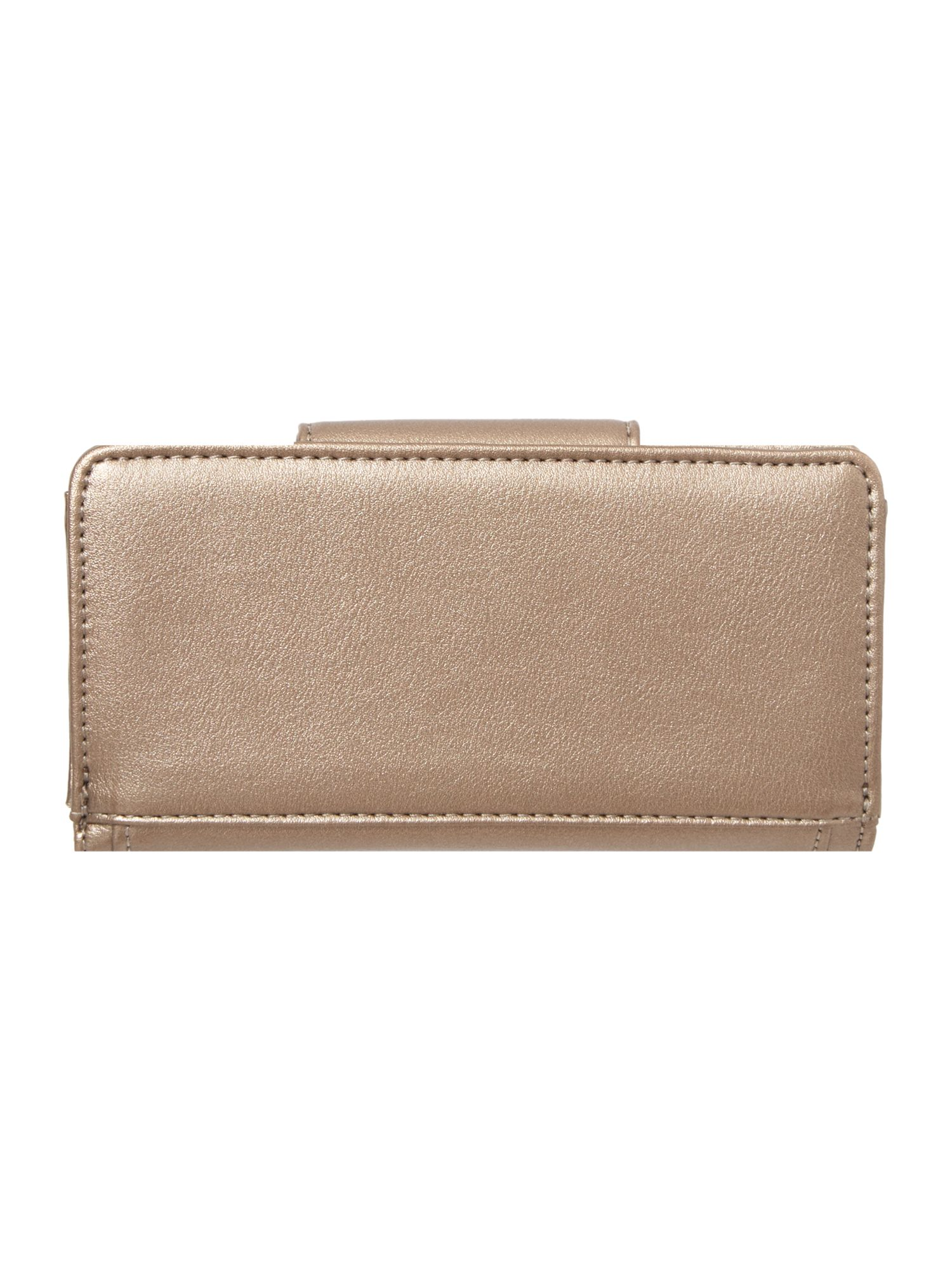 Angel gold ziparound purse