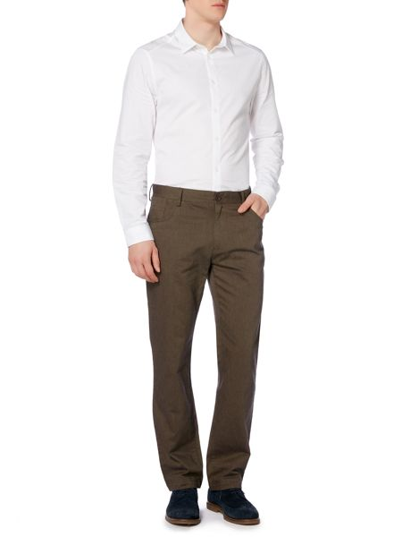 navier 5 pocket cotton trousers