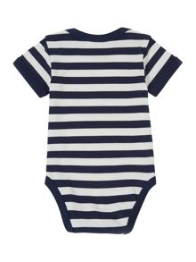 Baby boy cotton striped bodysuit short sleeved