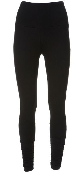 Mint Velvet Black ruched leggings