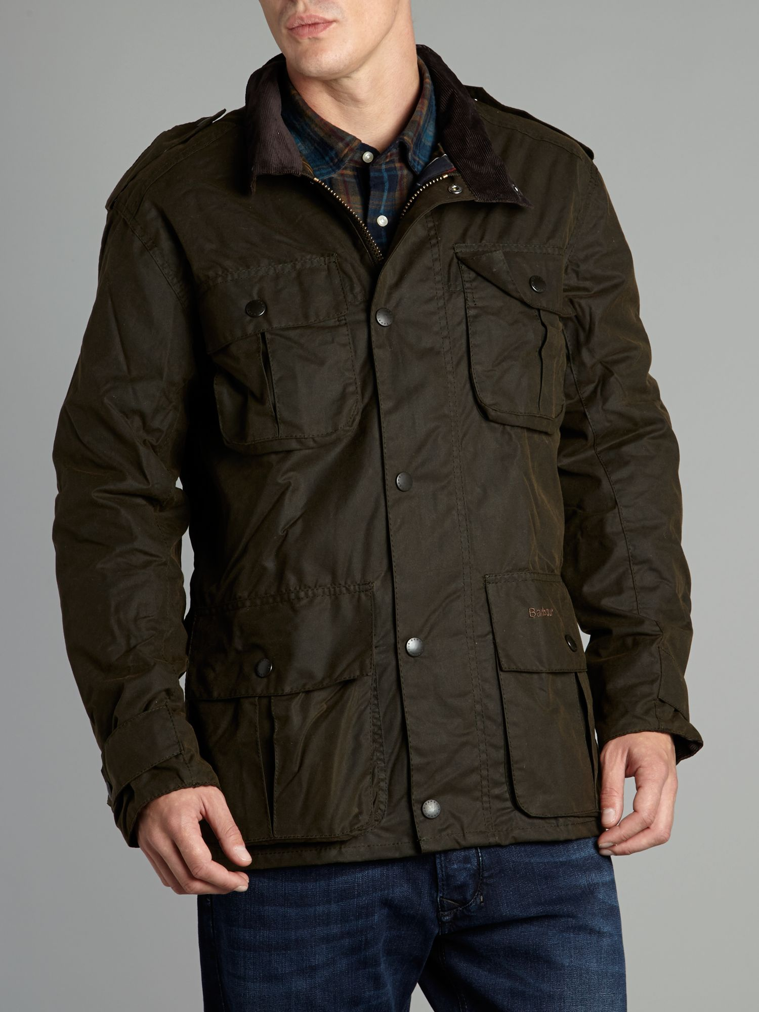 Trooper waxed jacket