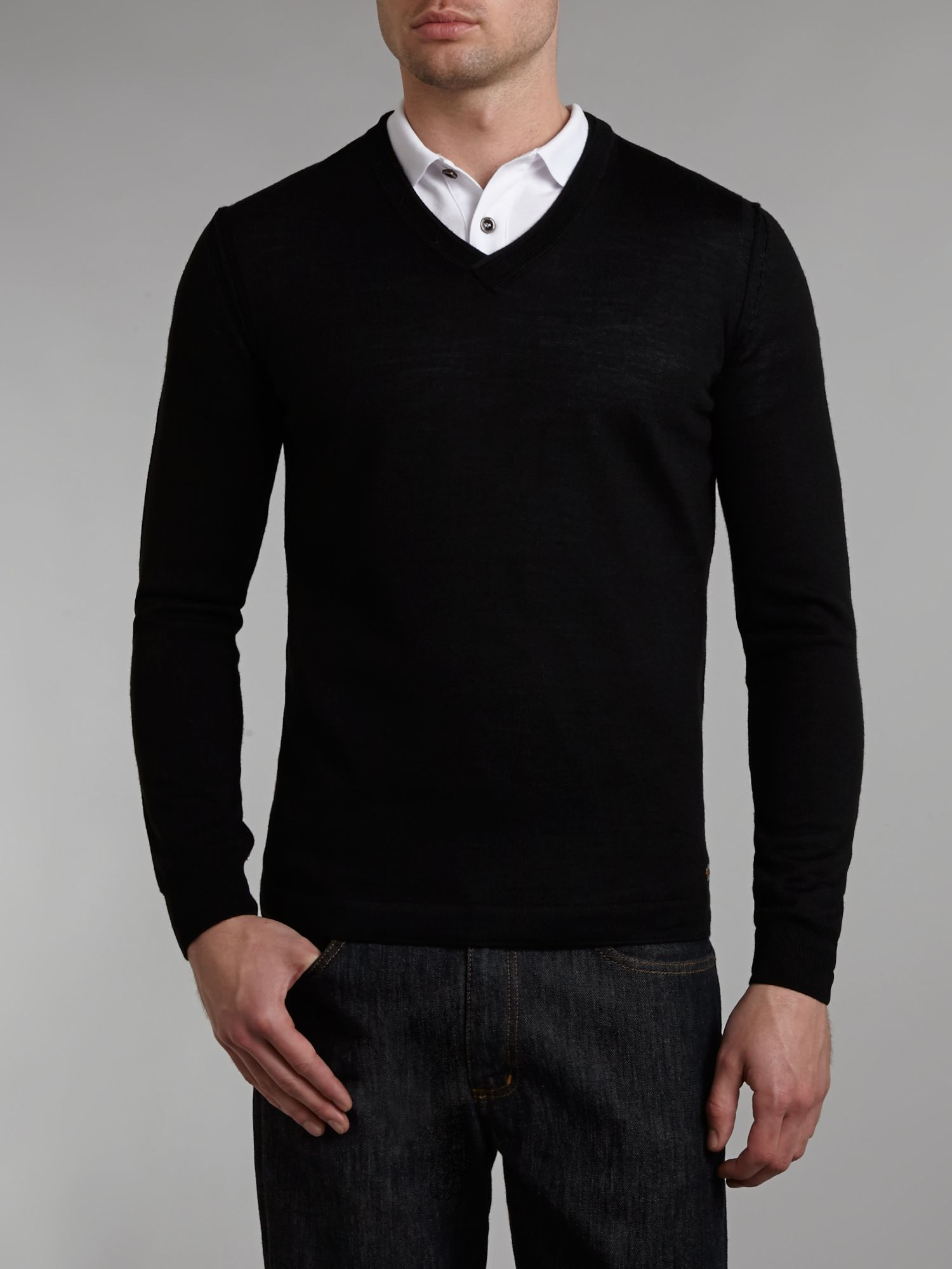 Albano stitch detailed jumper