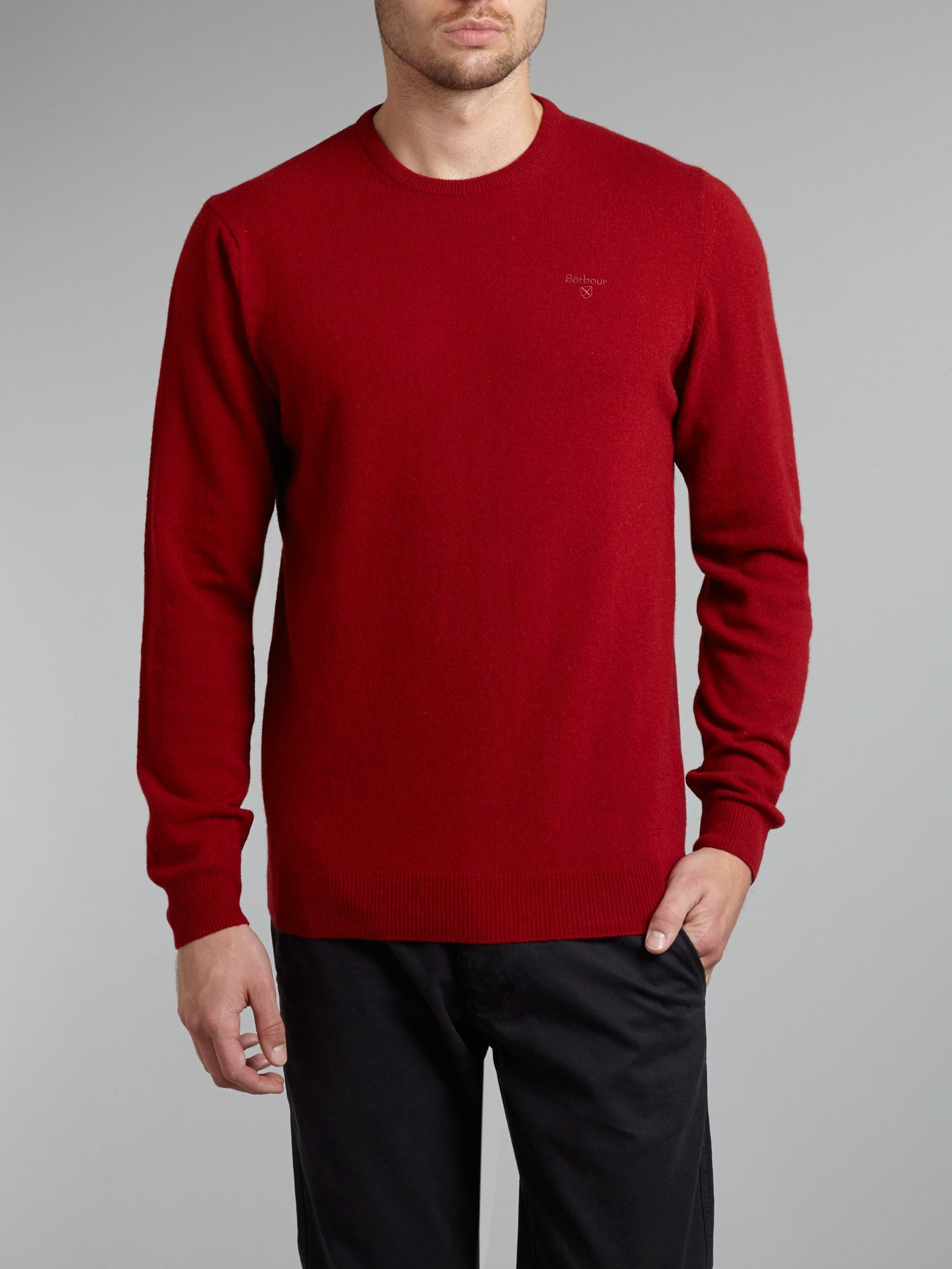 Essential lambswool crew neck jumper