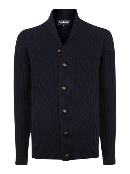 Barbour Kirkham shawl cable knit lambswool cardigan