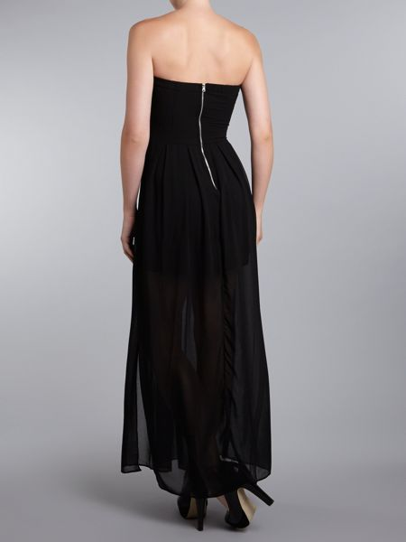 tfnc Strapless maxi dress