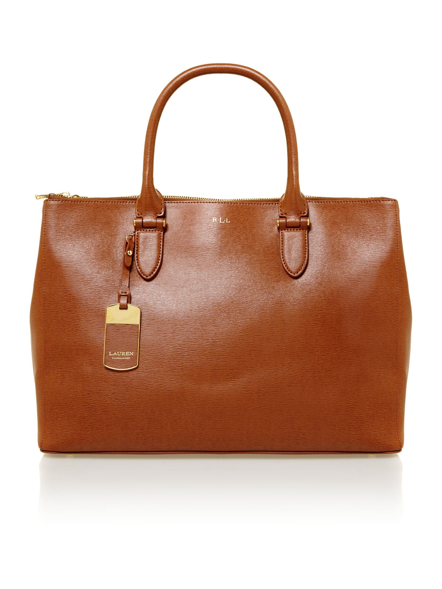 Newbury brown large tote bag
