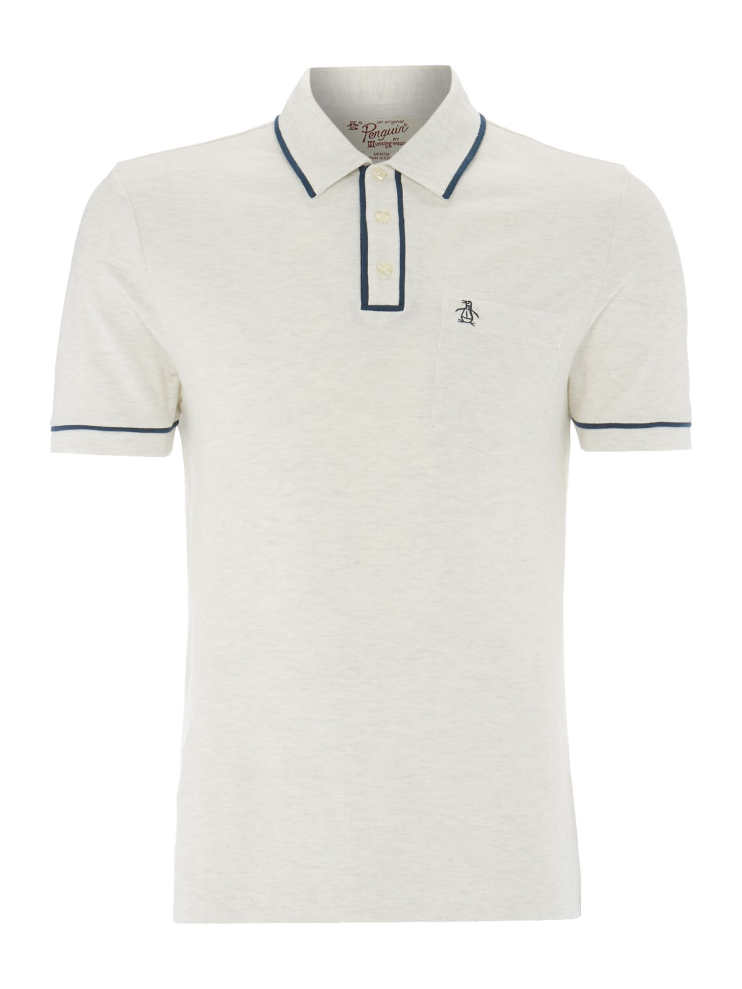 contrast piping polo