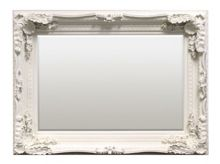 Carved Louis wall mirror cream