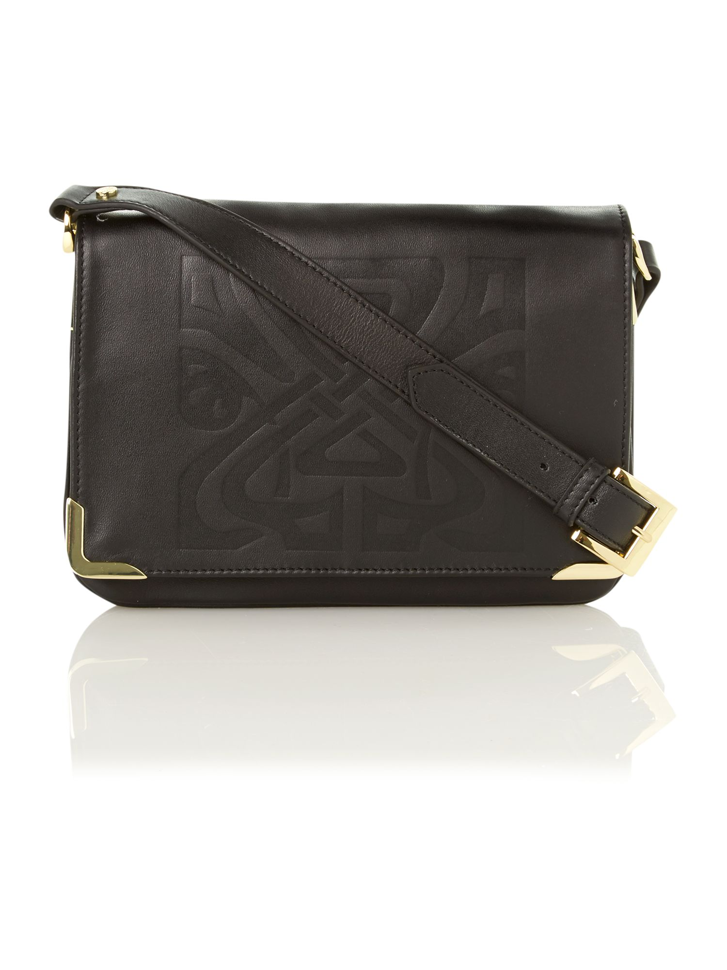 Gretal embossed logo cross body bag