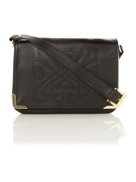 Biba Gretal embossed logo cross body bag
