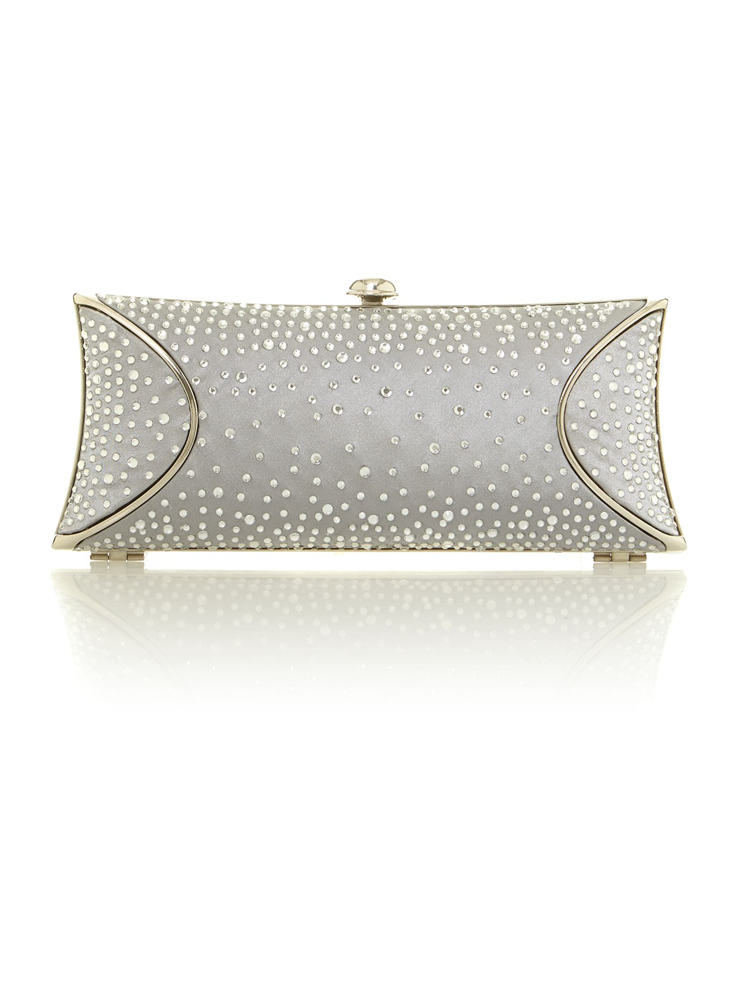 Amber hard box clutch bag