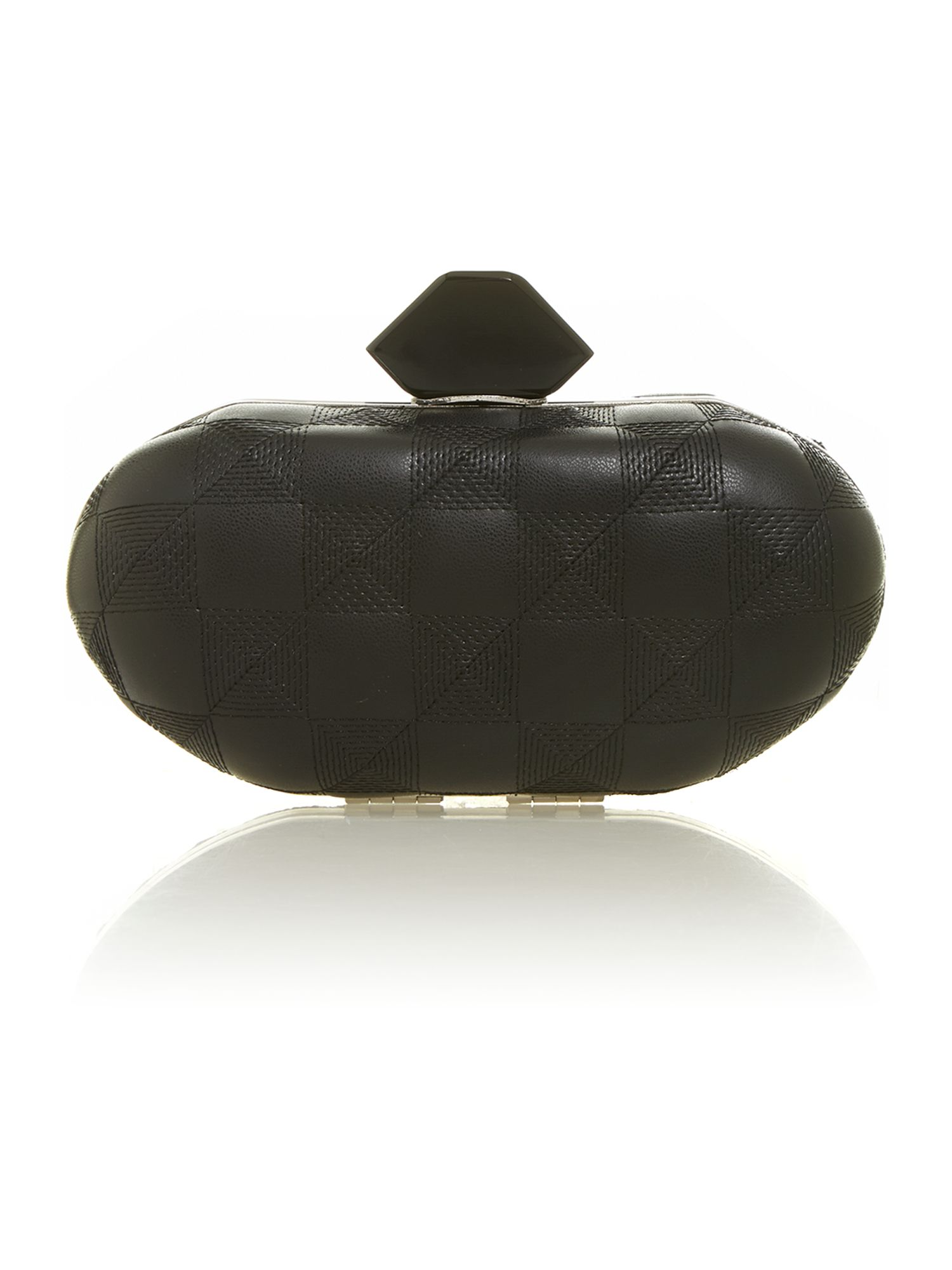 Jet quilted clutch bag