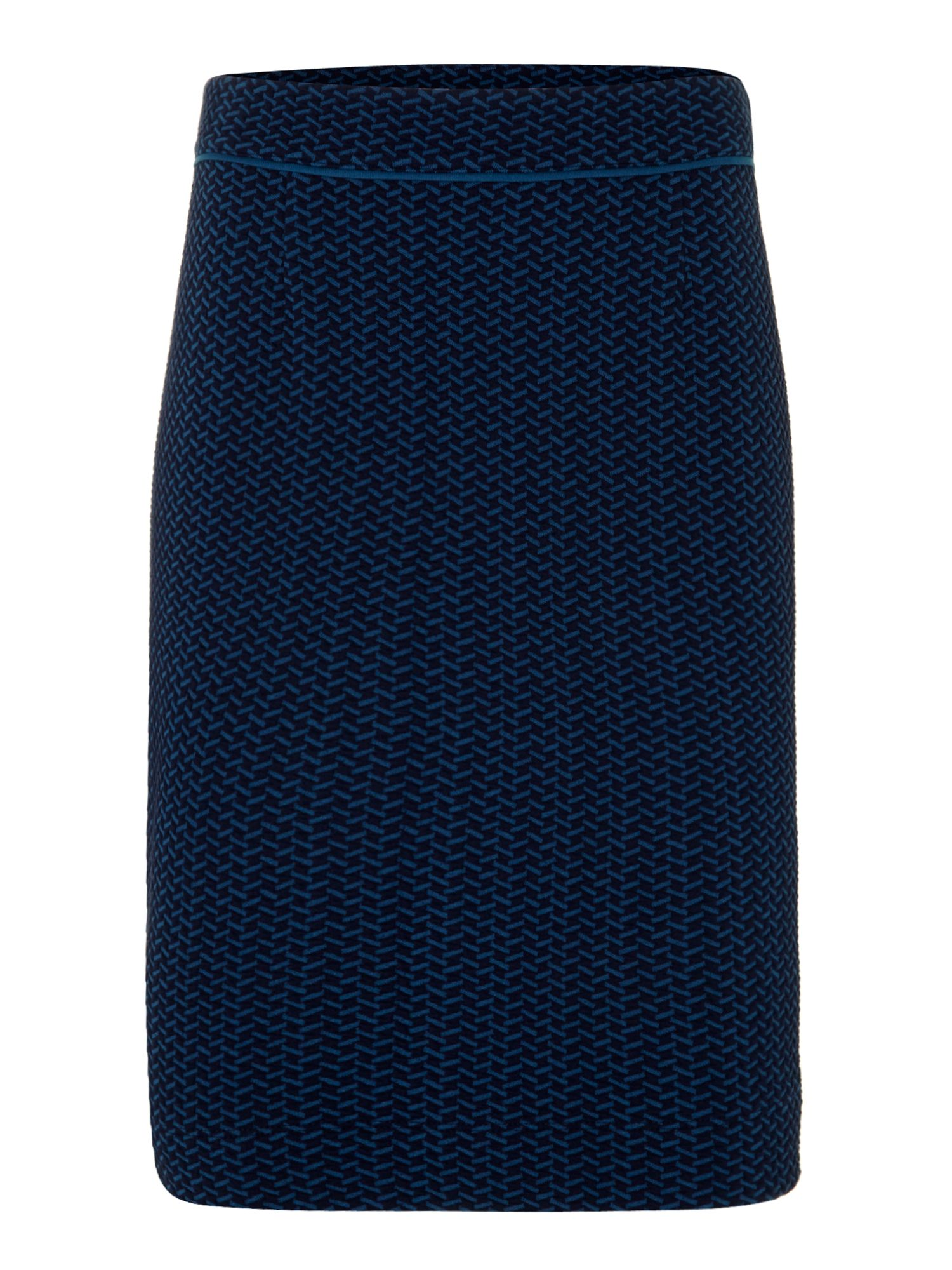 Ladies ponte herringbone aline skirt