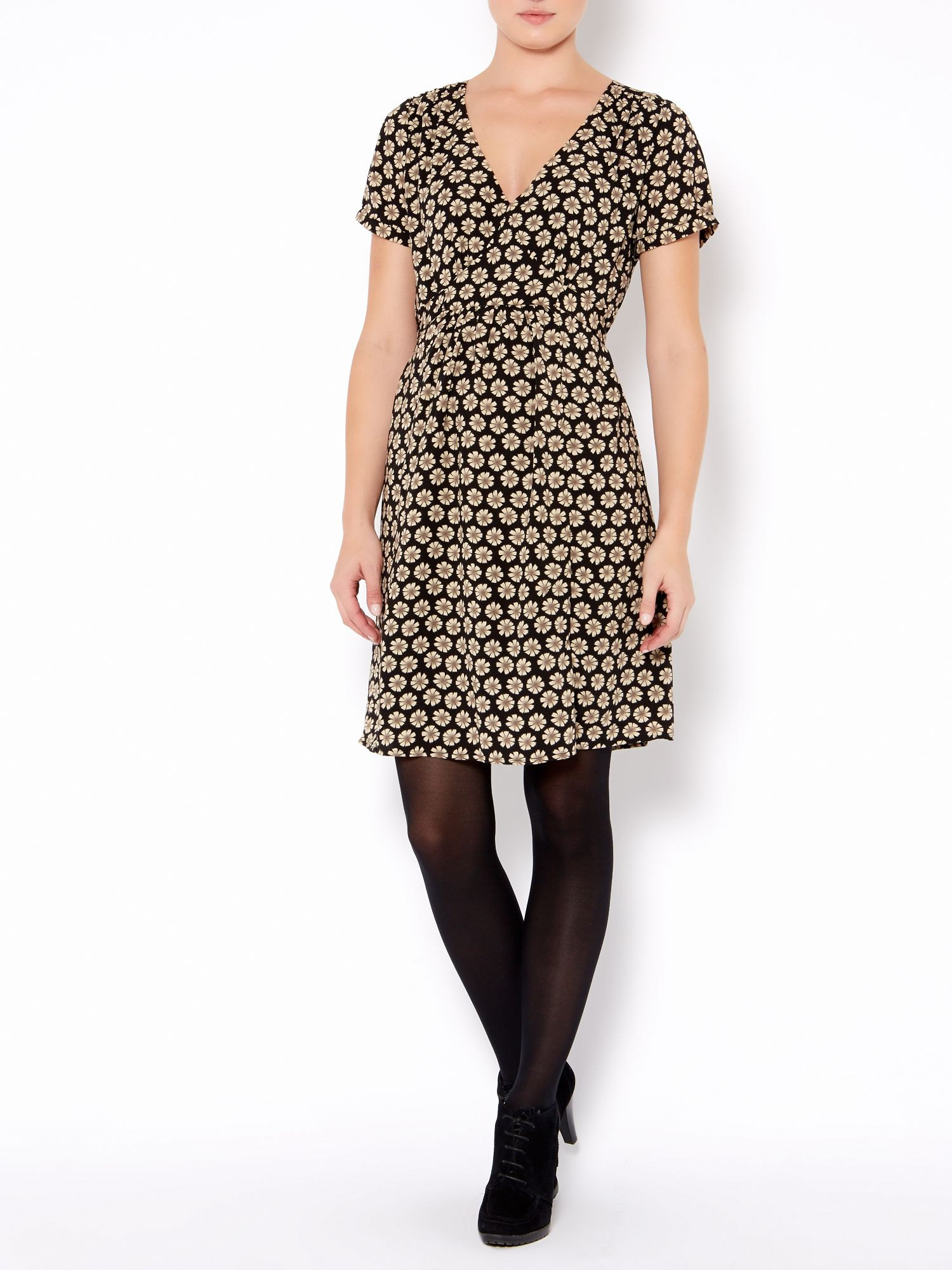 Ladies daisy print woven dress