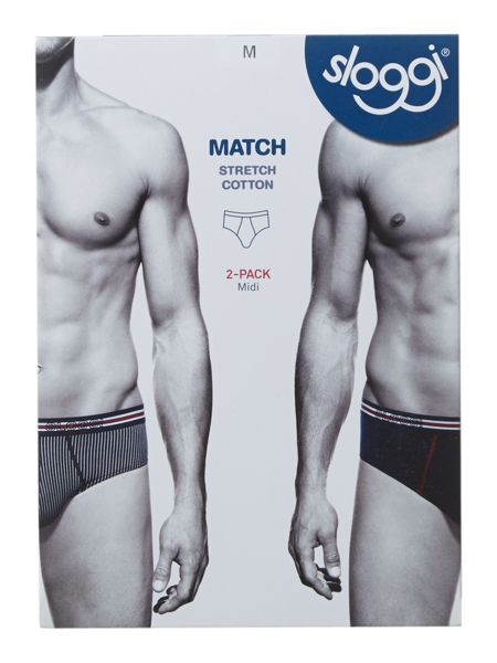 Sloggi 2 Pack Match Midi Brief