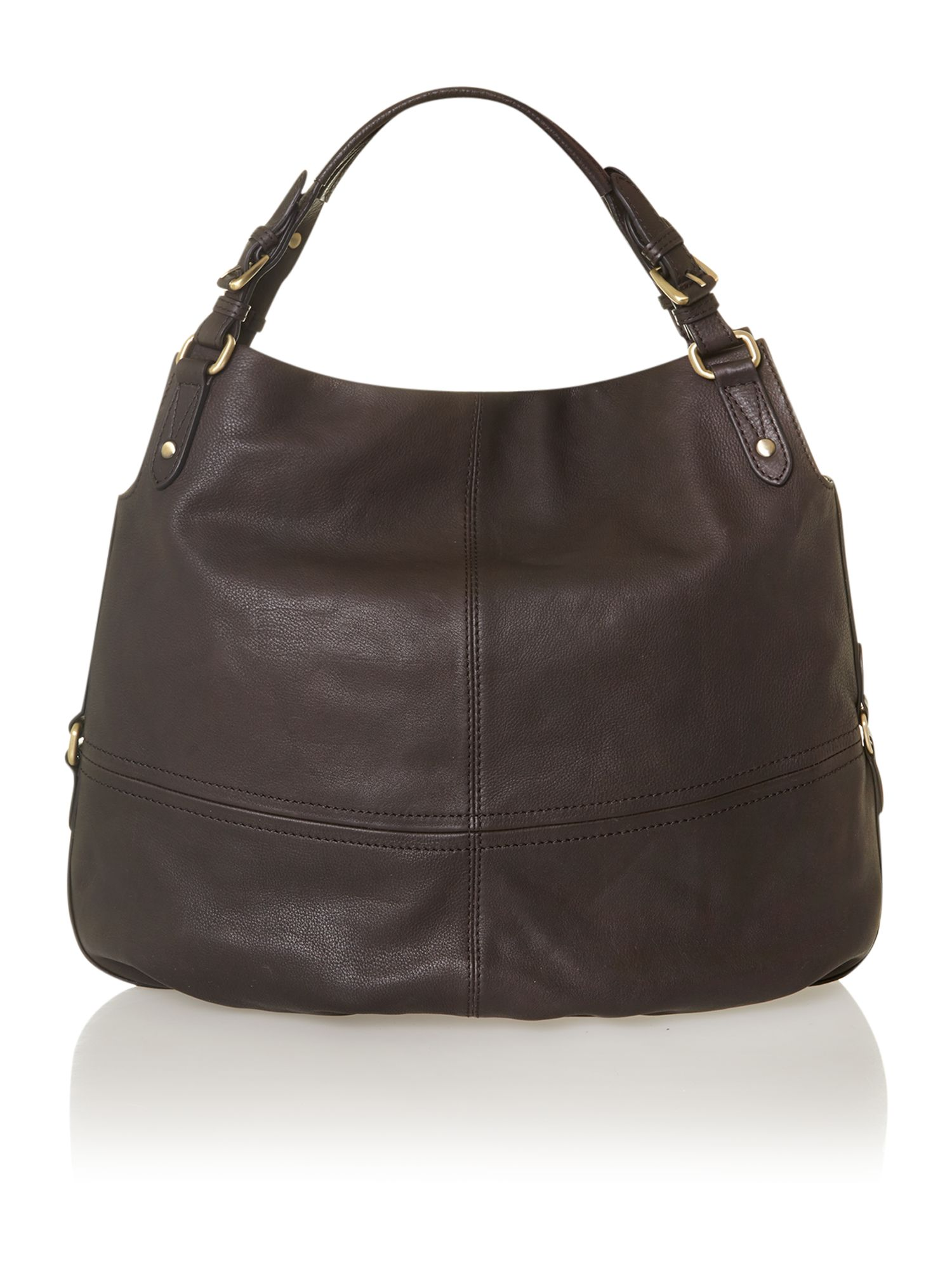 Brown olive hobo bag