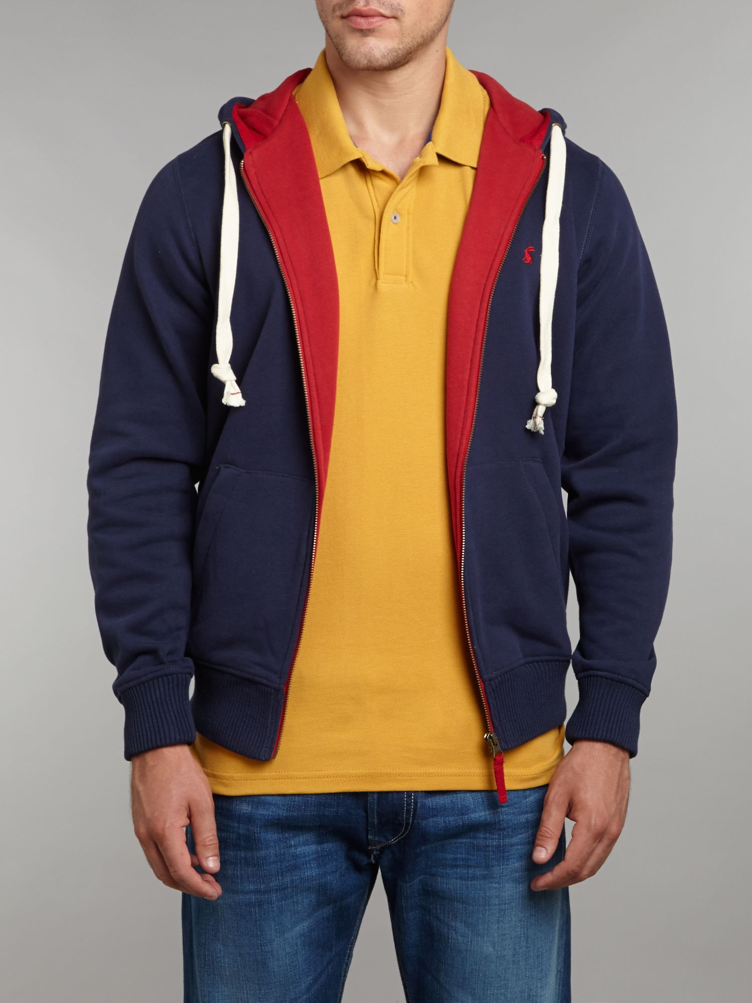 Hemsby hooded zip through sweatshirt