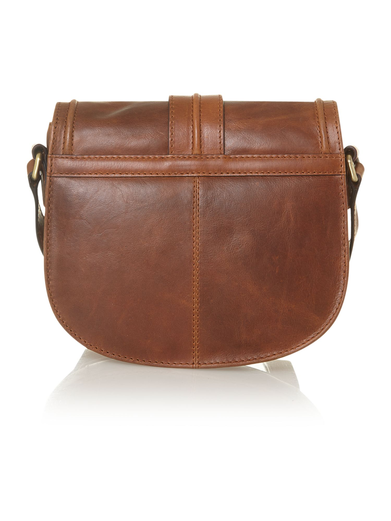 Saddle cross body bag