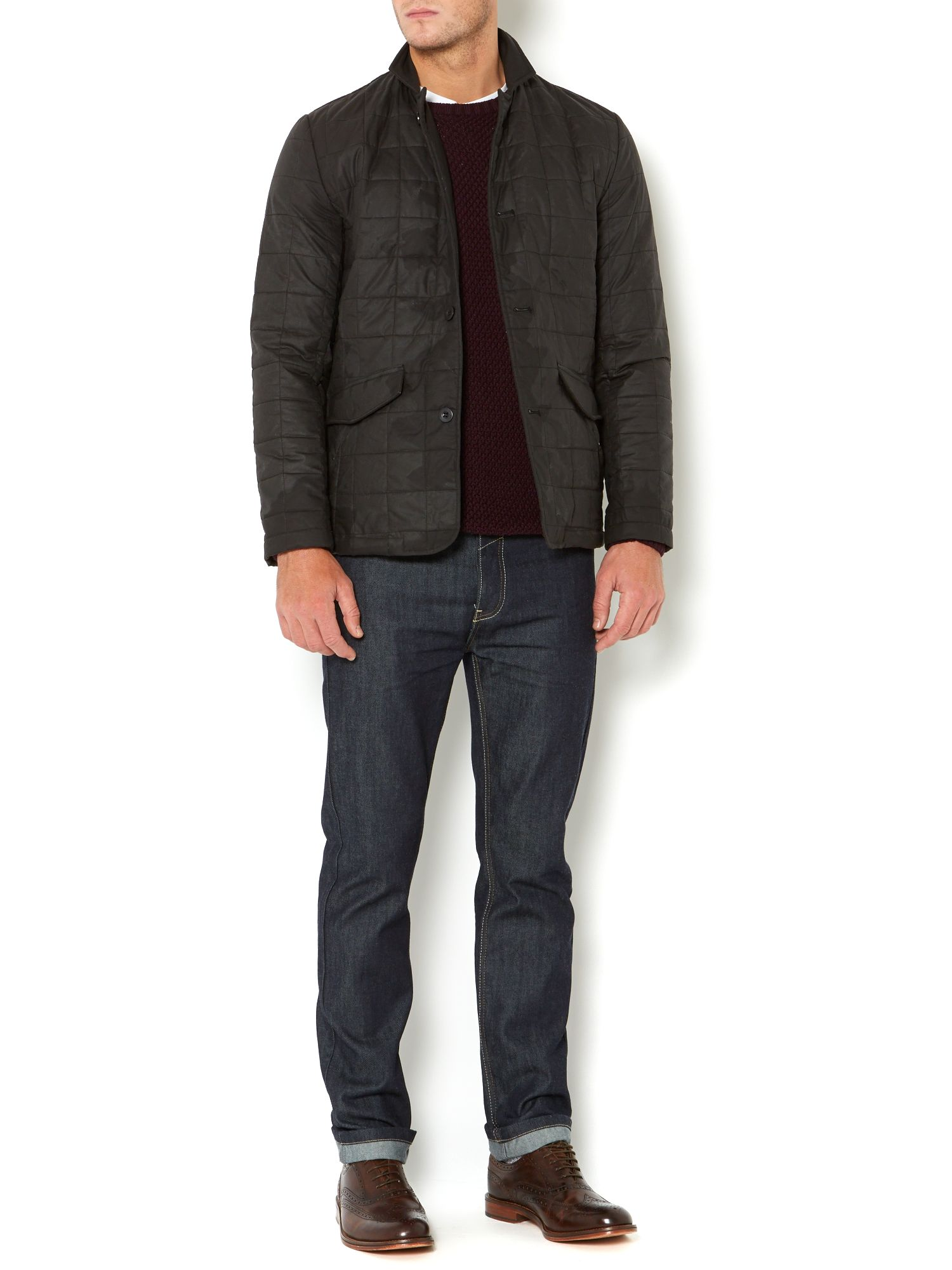 cassini wax square quilted jacket