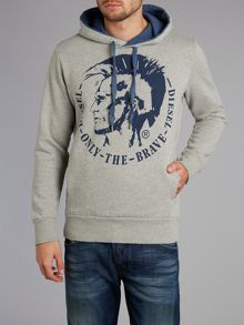 Mohican print hooded jumper