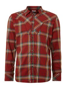 Western check long sleeved shirt