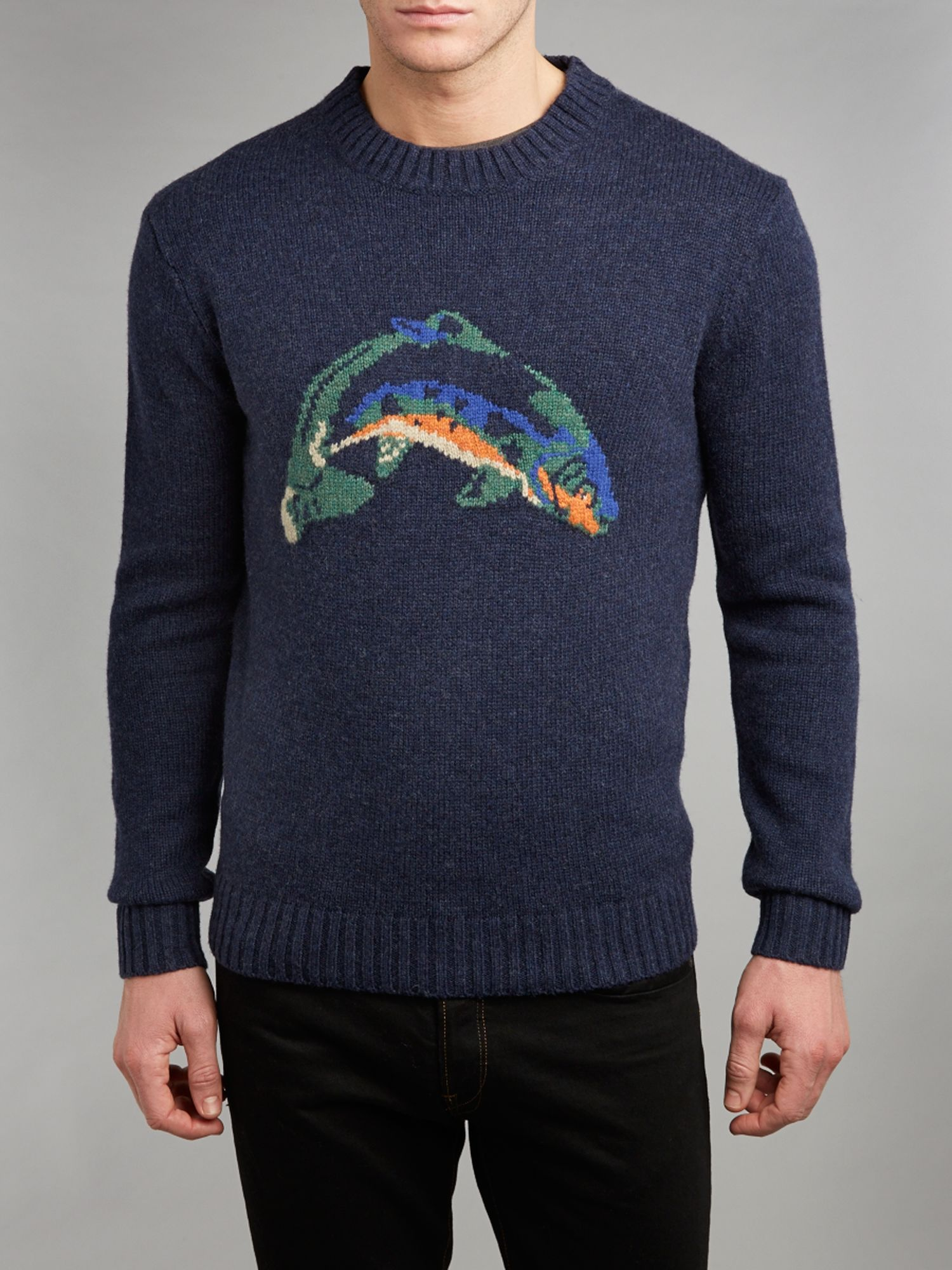 Sedgley fish knit jumper