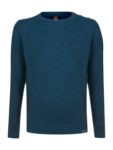 Button collared knit
