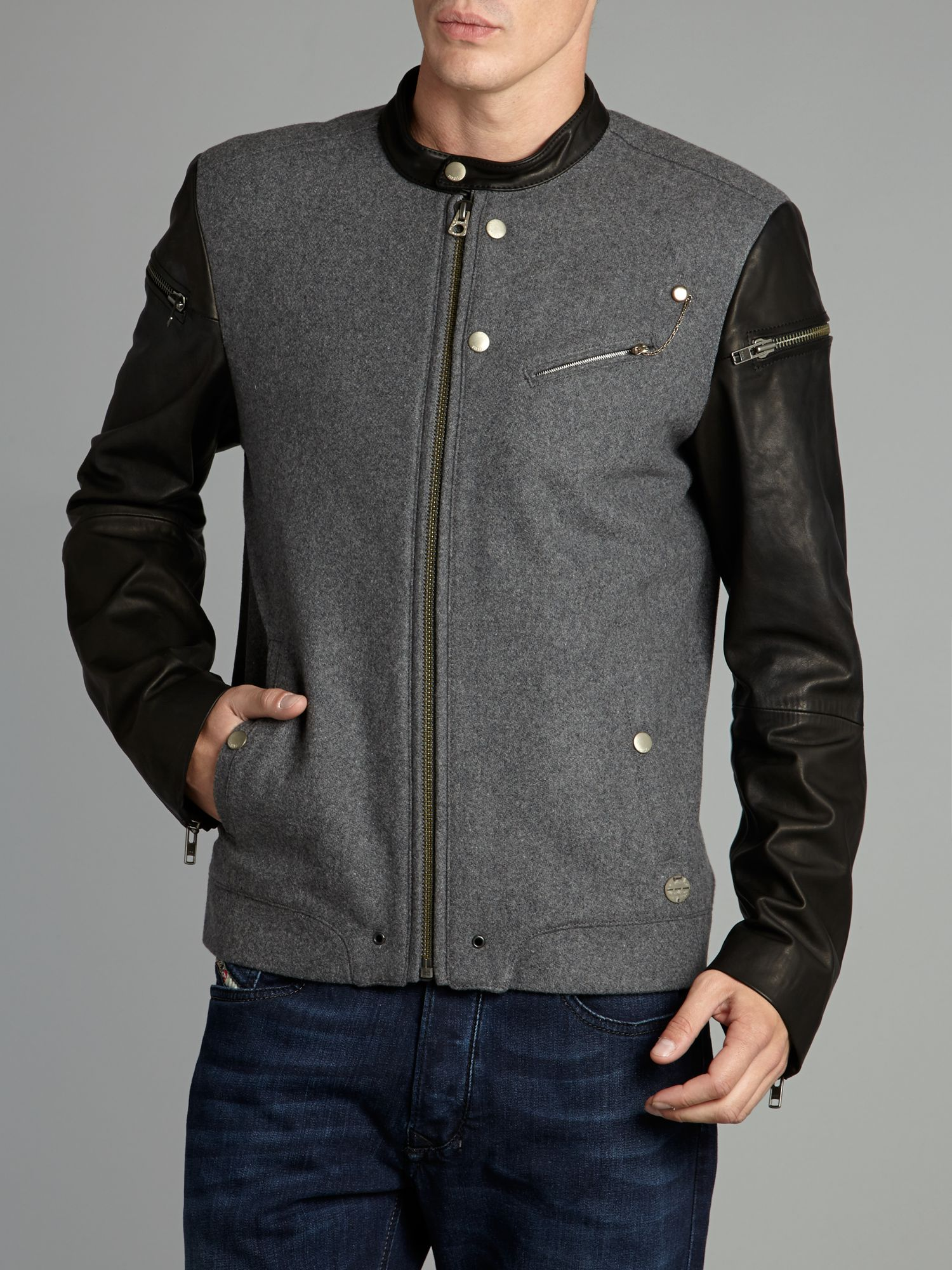 Leather sleeved biker
