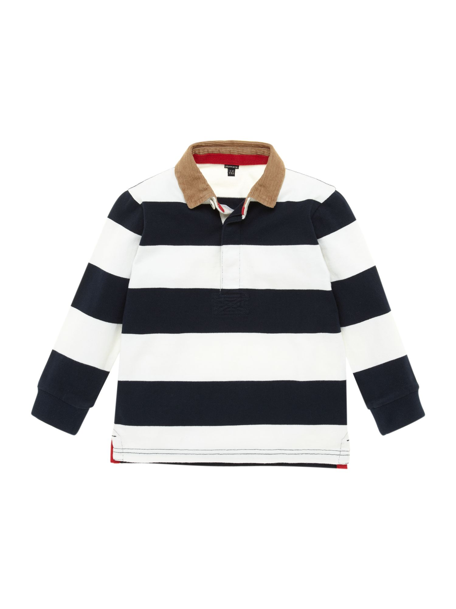 Boys striped cord collar rugby top