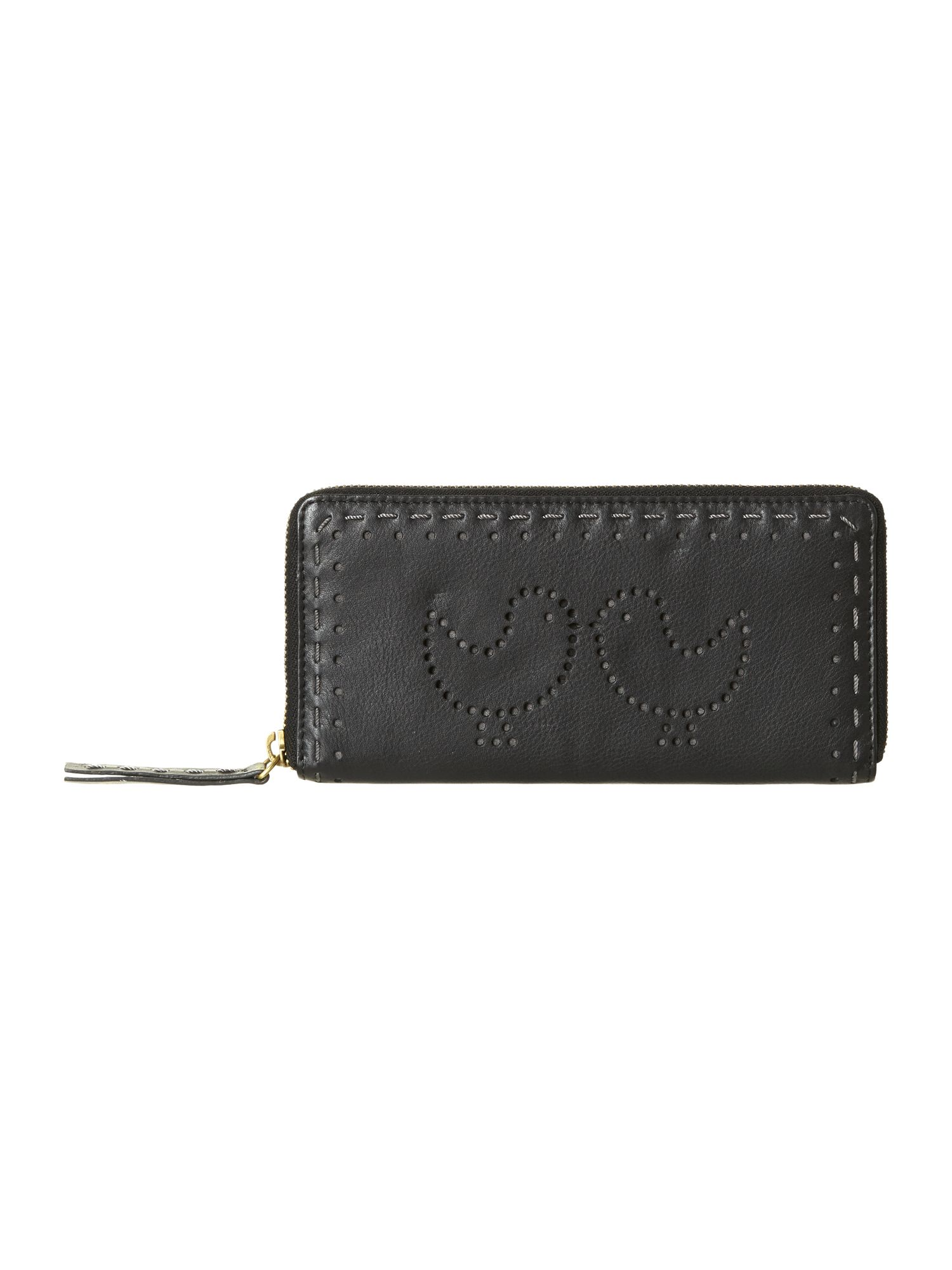 Bird punchout zip around purse