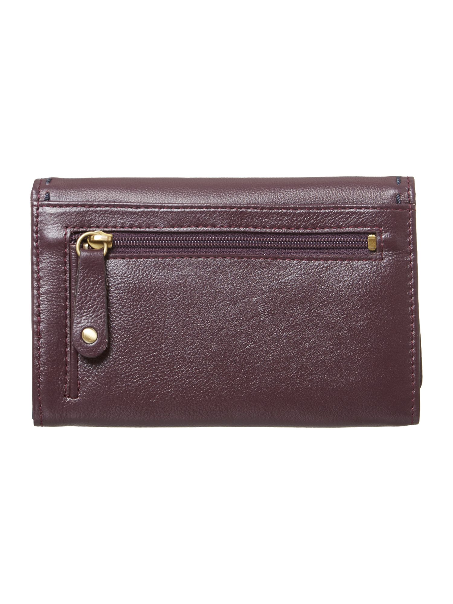 Poppy medium flapover purse