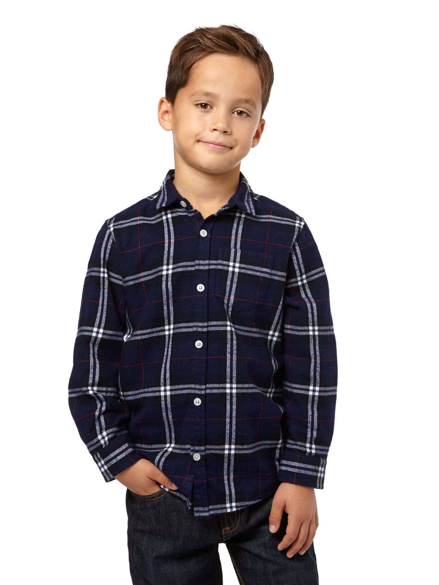 Boys jumbo check shirt