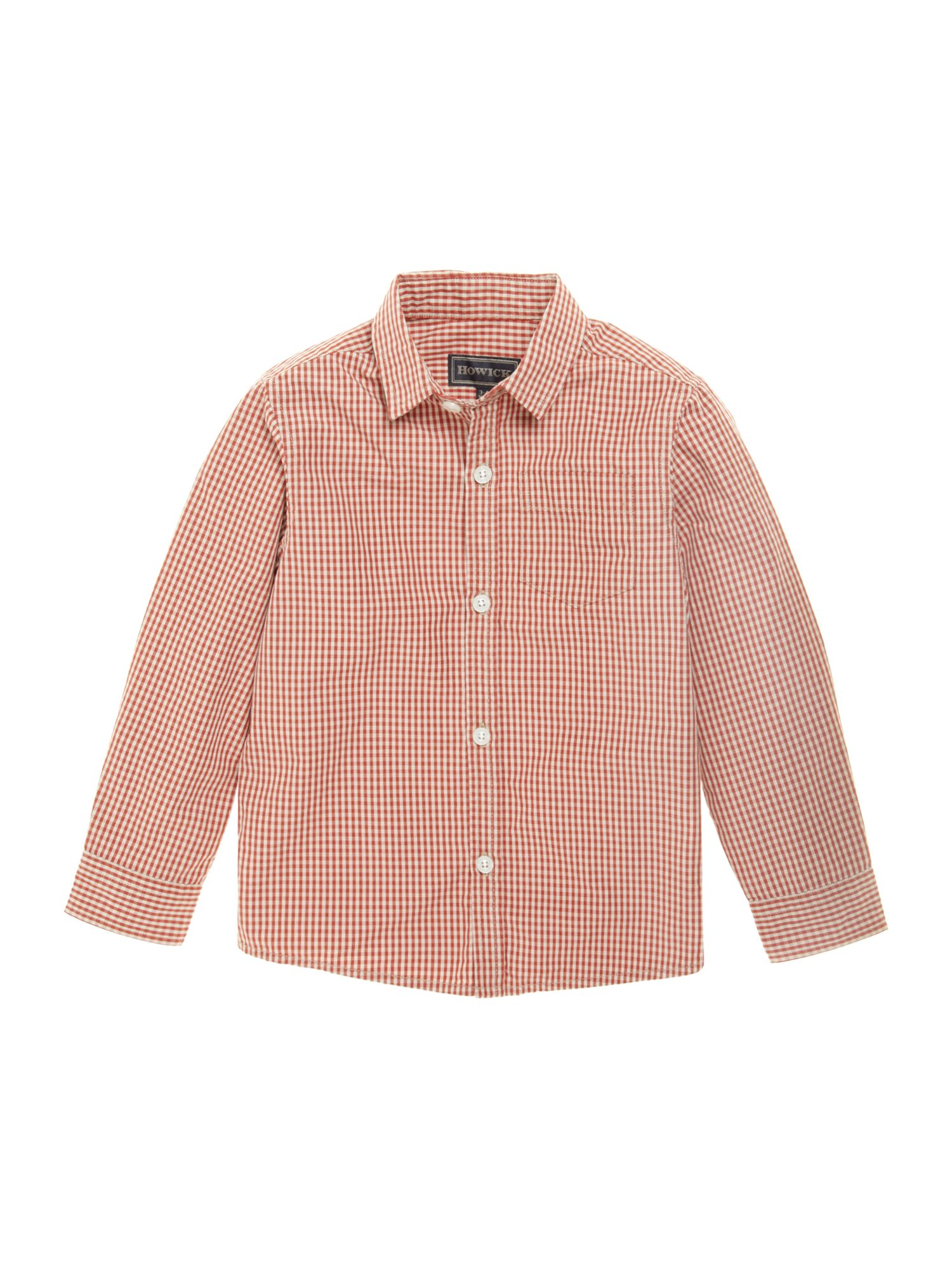 Boys gingham shirt