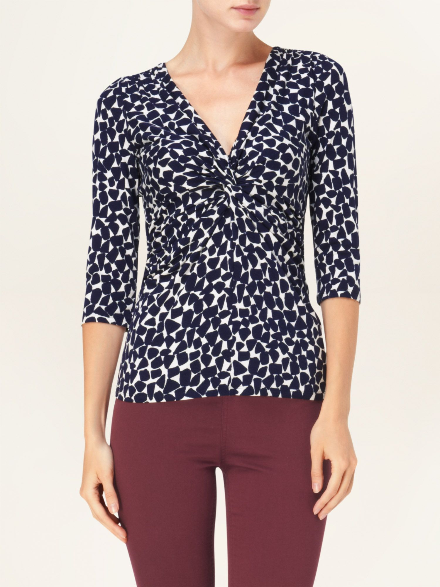 Sara pebble print top