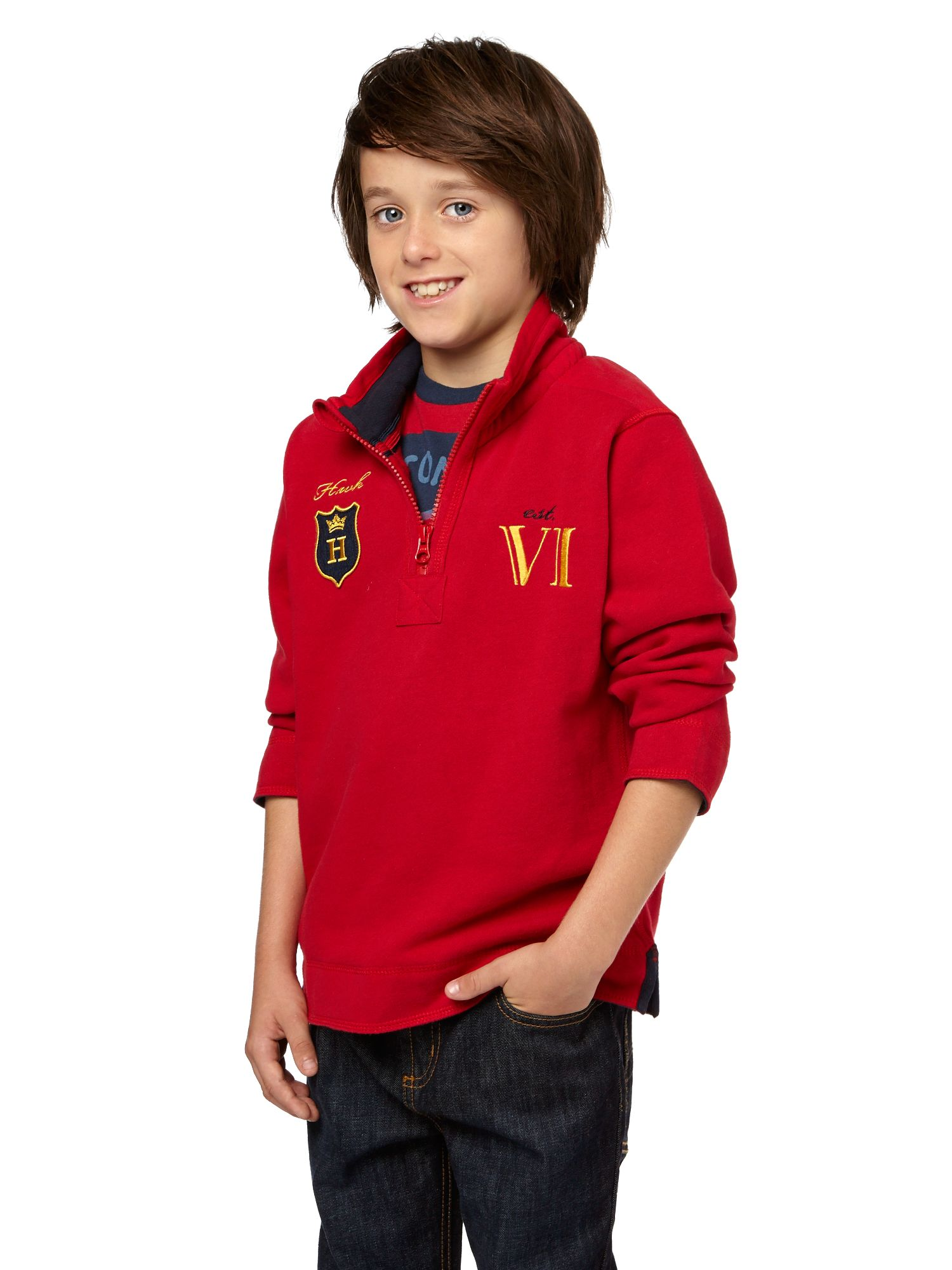 Boys half funnel neck sweatshirt