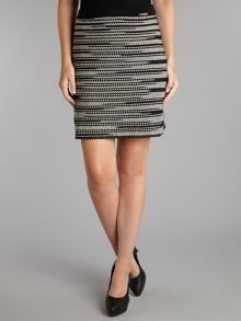 Striped and spotted skirt