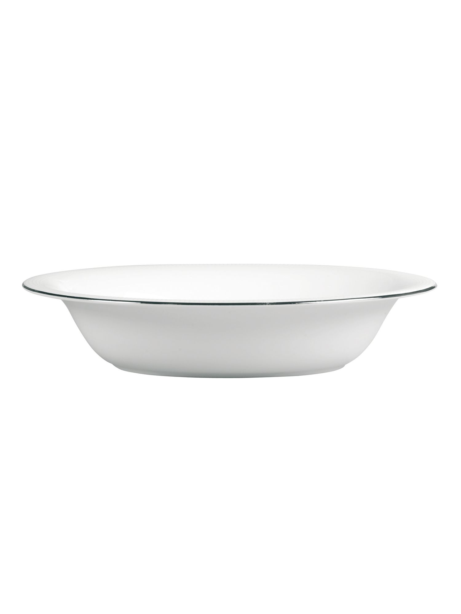 Vera Wang blanc sur blanc open vegetable dish