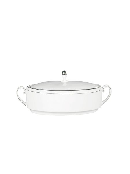 Wedgwood Vera Wang blanc sur blanc vegetable dish