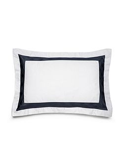 Glen plaid navy king sham