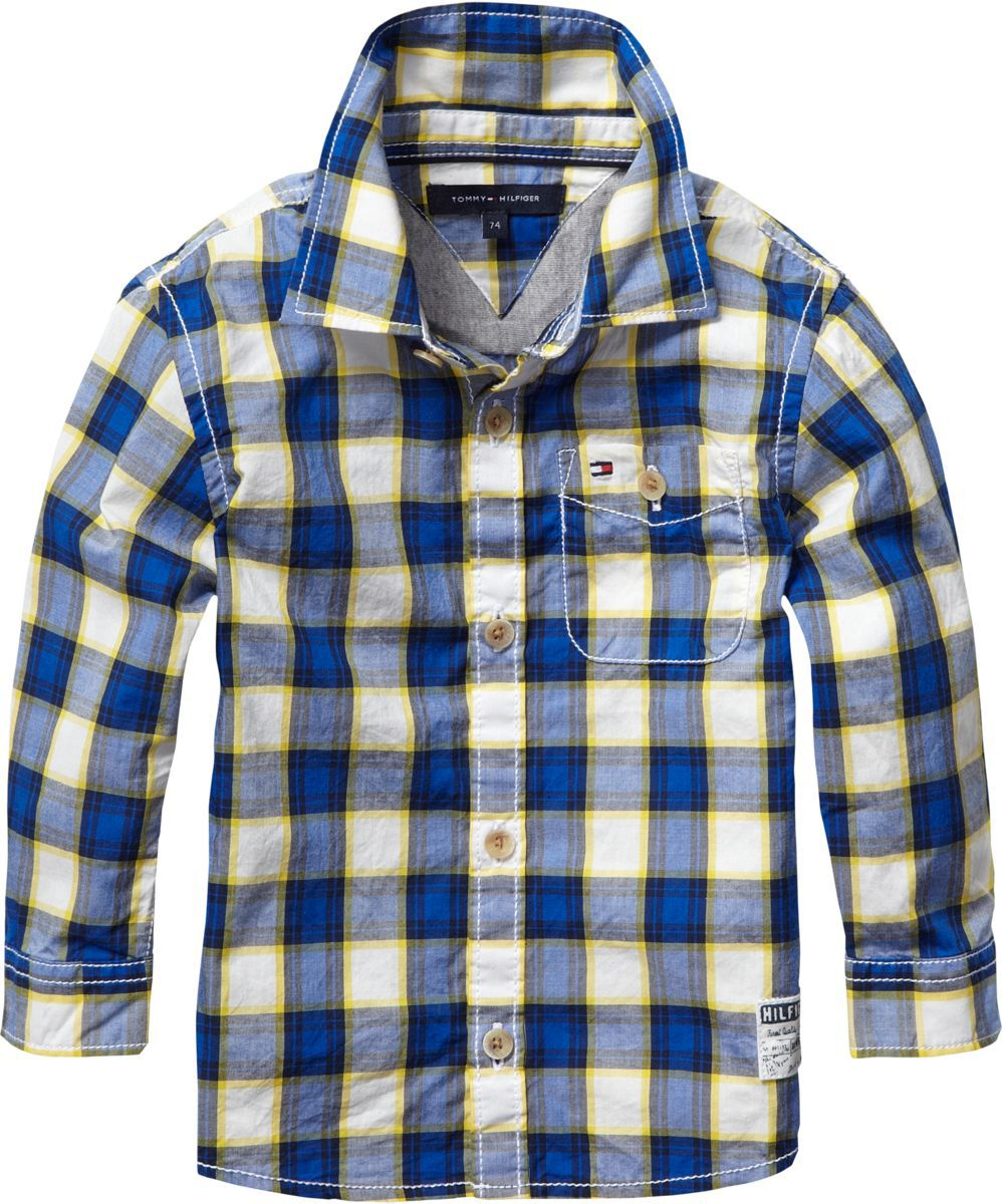 Boy`s autumn check mini shirt