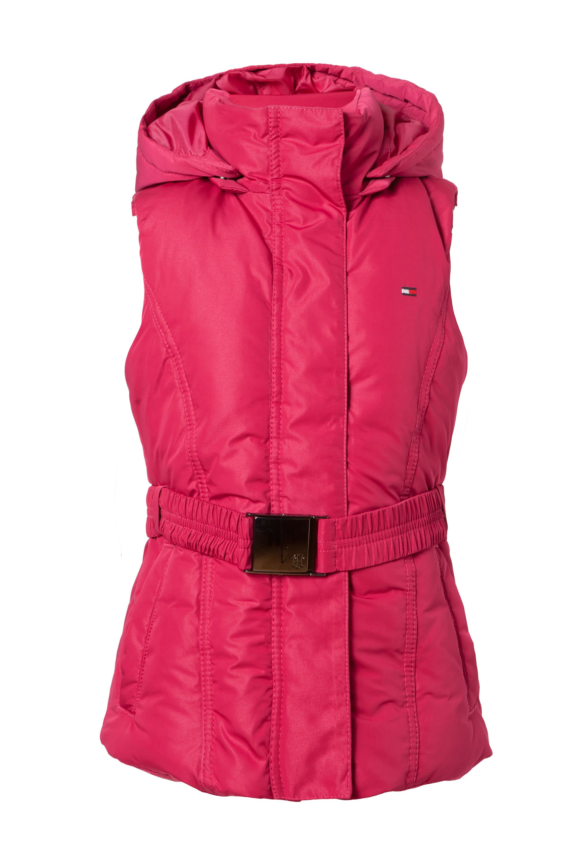 Girl`s belted down mini vest