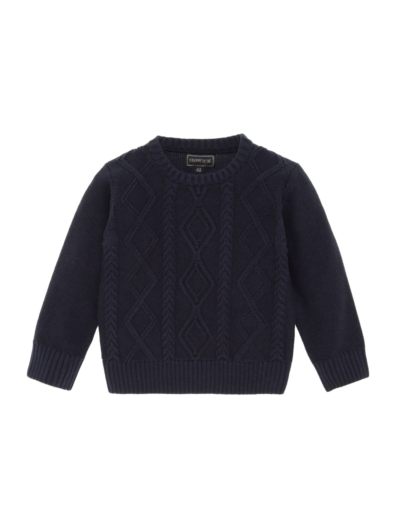 Boys cable crew neck jumper