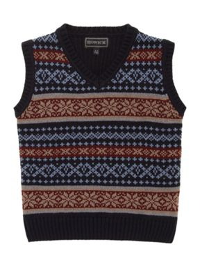 Howick Junior Boy's Fairisle Tank Top